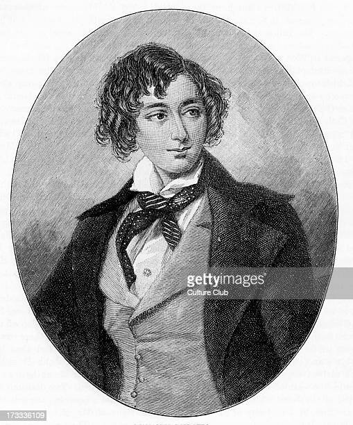 Benjamin Disraeli as a young man After painting by AEChallon Ffirst Earl of Beaconsfield British Prime Minister parliamentarian Conservative...