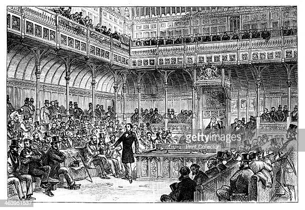 Benjamin Disraeli introducing his reform bill in the House of Commons c1867 Benjamin Disraeli served as Chancellor of the Exchequer and as British...