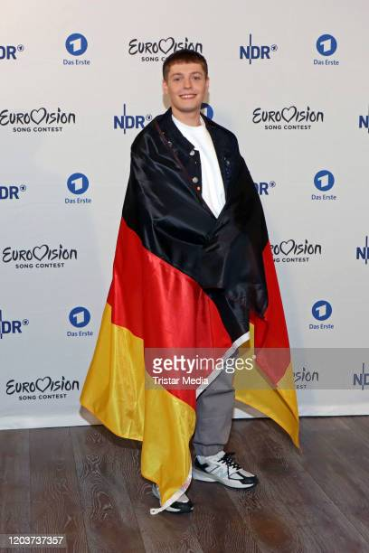 Benjamin Dolic attends the Unser Lied fuer Rotterdam photo call at ASTOR Film Lounge HafenCity on February 27 2020 in Hamburg Germany