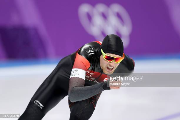 Benjamin Donnelly of Canada competes during the Men's 1500m Speed Skating on day four of the PyeongChang 2018 Winter Olympic Games at Gangneung Oval...