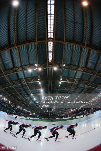 Benjamin Donnelly of Canada competes in the Men's 5000m during day one of the World Allround Speed Skating Championships at Viking Skipet Hamar...