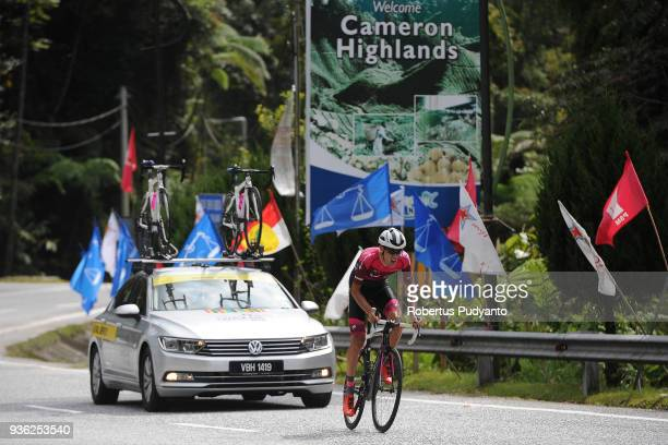 Benjamin Dyball of St George Continental Cycling Team Australia sprints to finish line during Stage 5 of the Le Tour de Langkawi 2018 BentongCameron...