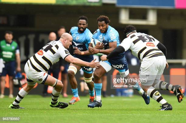 Benjamin Fall of Montpellier during the French Top 14 match between Montpellier and La Rochelle at Altrad Stadium on April 8 2018 in Montpellier...