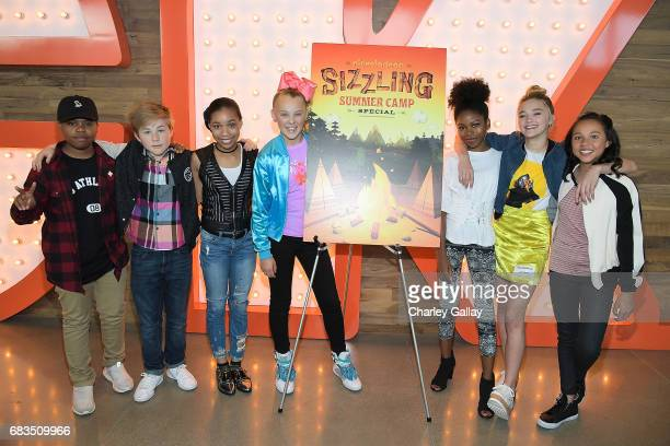 Benjamin Flores Jr Casey Simpson KylaDrew Simmons Jojo Siwa Riele Downs Lizzy Greene and Breanna Yde attend Nickelodeon's Sizzling Summer Camp...