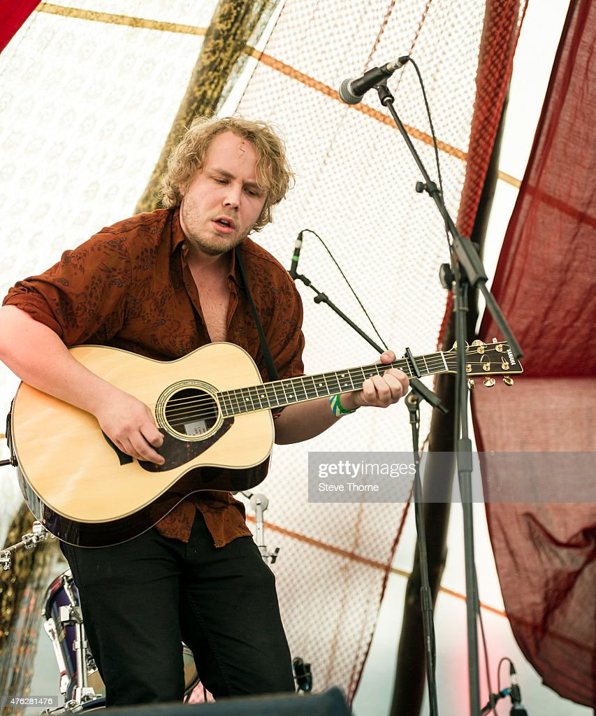 Benjamin Folke Thomas performs at the Lunar Festival on June 7, 2015 in Tanworth-in-Arden, United Kingdom