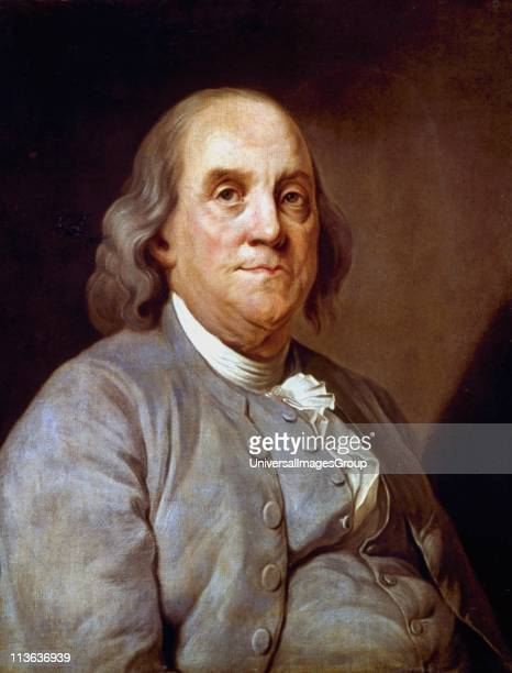 Benjamin Franklin American statesman printer and scientist Anonymous portrait