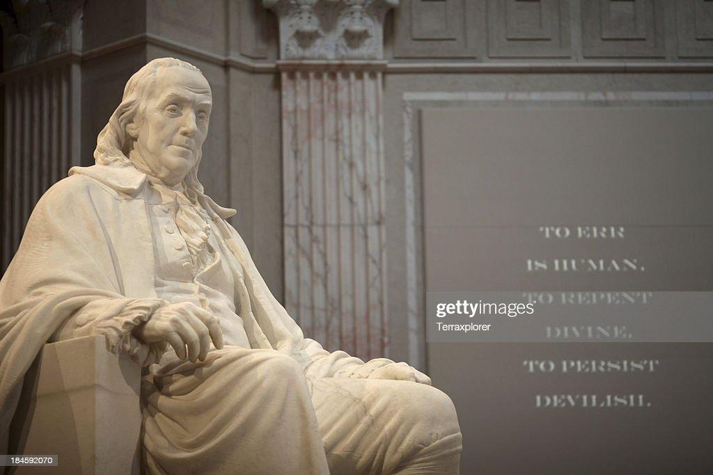 Benjamin Franklin Memorial : Stock Photo