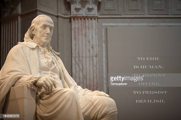 benjamin franklin memorial - monument stock pictures, royalty-free photos & images