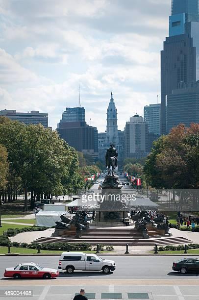 Benjamin Franklin Parkway in Philadelphia, USA