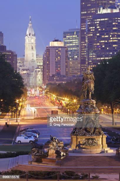 Benjamin Franklin Parkway - Philadelphia Skyline
