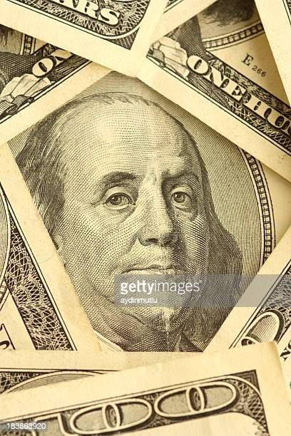 benjamin franklin - canadian one hundred dollar bill stock pictures, royalty-free photos & images