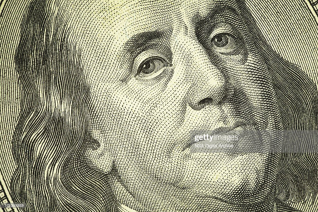 Benjamin Franklin Portrait on One Hundred Dollar Bill | Finance : Stock Photo
