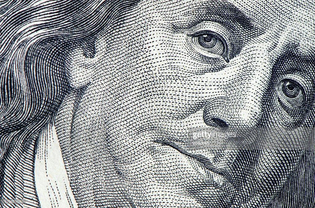 Benjamin Franklin Porträt : Stock-Foto