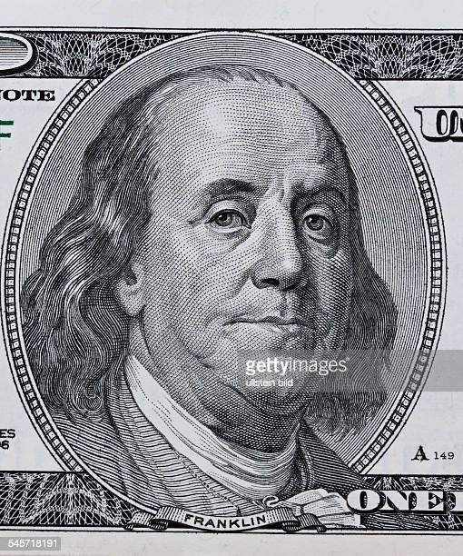 USA Benjamin Franklin portrait printed on the 100 Dollar banknote