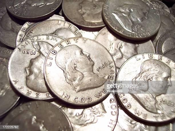 Benjamin Franklin Silver Half Dollars