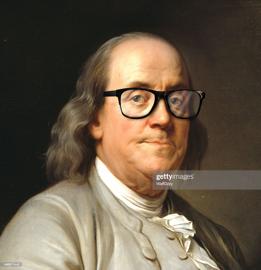 Benjamin Franklin Mit Brille Stock-Foto | Getty Images