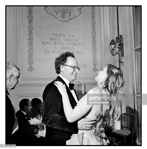 Benjamin Fraser and his daughter Eliza Fraser are photographed at the Crillon Debutante Ball for Vanity Fair Magazine on November 26 2011 in Paris...