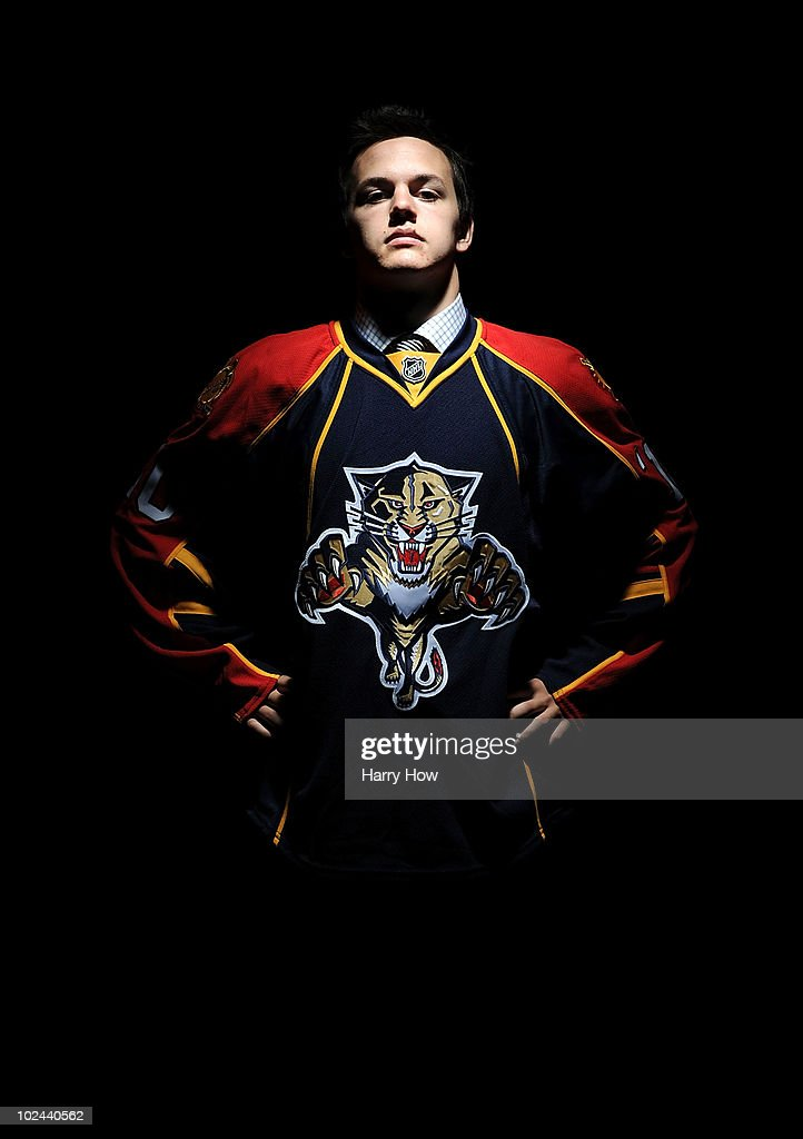 Benjamin Gallacher, drafted in the fourth round by the Florida Panthers, poses for a portrait during the 2010 NHL Entry Draft at Staples Center on June 26, 2010 in Los Angeles, California.