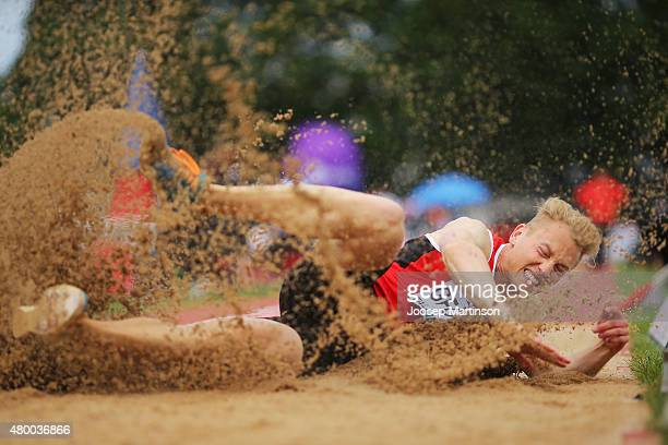 Benjamin Gfohler of Switzerland competes in the Men's Long Jump qualification during day one of the European Athletics U23 Championships at Kadriorg...