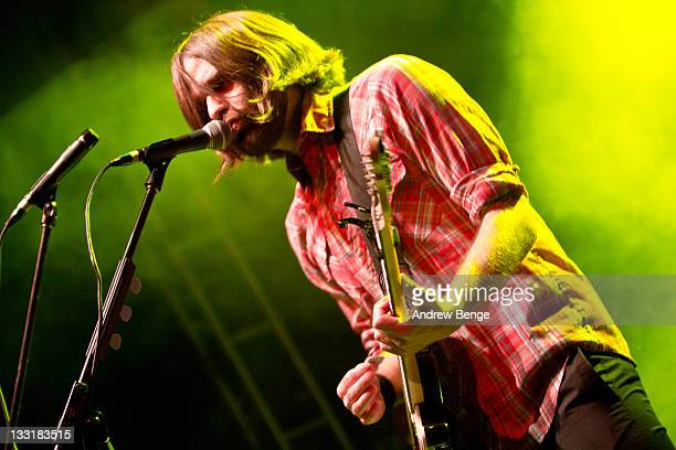Benjamin Gibbard of Death Cab for Cutie performs on stage at O2 Academy on November 17, 2011 in Leeds, United Kingdom.