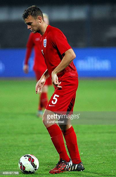 Benjamin Gibson of England in action during the UEFA U21 Championship Playoff Second Leg match between Croatia and England at the Stadion Hnk Cibalia...