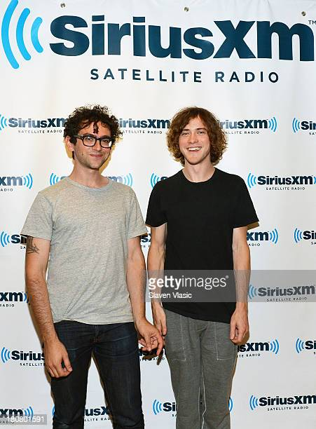 Benjamin Goldwasser and Andrew VanWyngarden of psychedelic rock band MGMT visit SiriusXM Studios on September 16 2013 in New York City