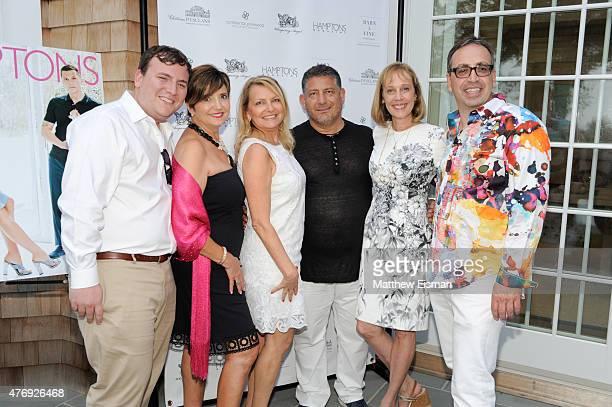 Benjamin Gordon Terry Thompson Debra Halpert Uri Hason Jane Goll and Aaron Curtie attend as Hamptons Magazine celebrates cover stars Sean Avery and...