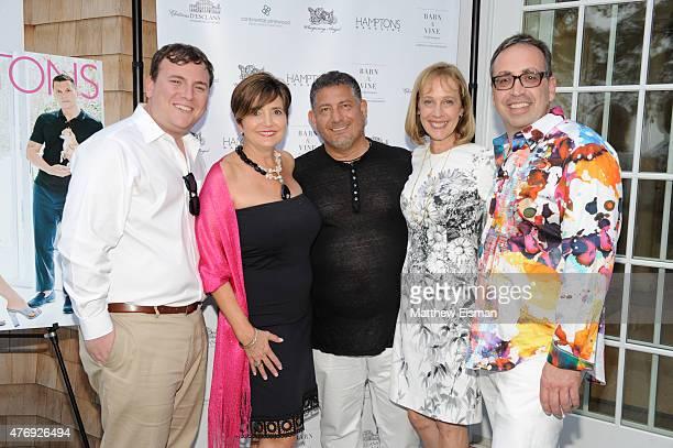 Benjamin Gordon Terry Thompson Uri Hason Jane Goll and Aaron Curtie attend as Hamptons Magazine celebrates cover stars Sean Avery and Hilary Rhoda at...