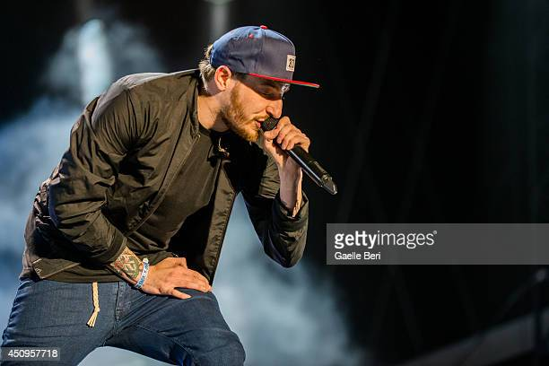Benjamin Griffey of Casper performs on stage at Hurricane Festival on June 20 2014 in Scheessel Germany