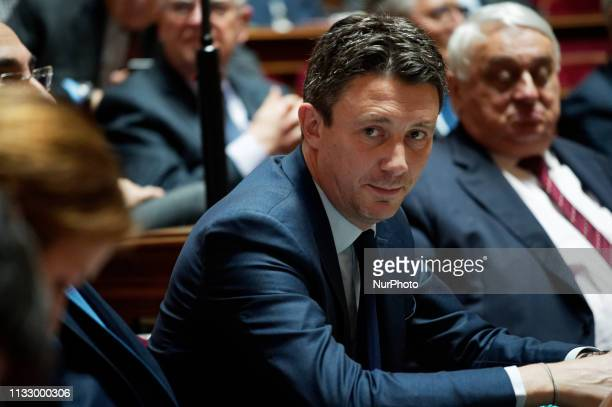 Benjamin GRIVEAUX attends the French Senate for the weekly questions to the Government March 21 Paris
