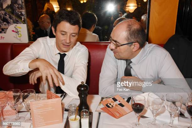 Benjamin Griveaux from LREMÊand a guest attend the 'Boeuf A la Mode' Dinner Hosted by Les Artisans Bouchers de Paris et Ile De France at Le Louchebem...