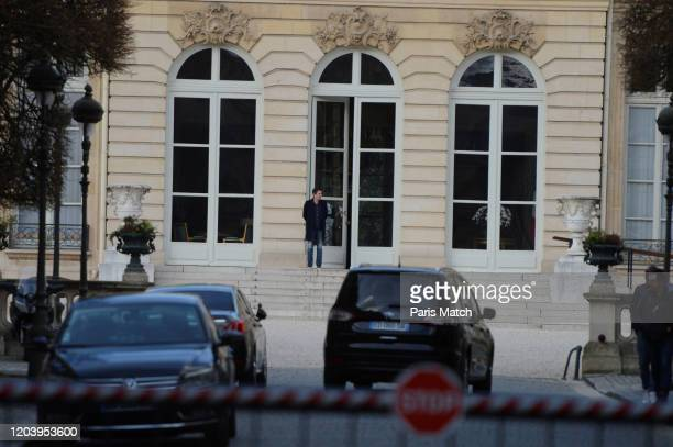 Benjamin Griveaux is photographed on the steps of the Hôtel de Lassay which he used to enter his office at the National Assembly Friday 14 he...