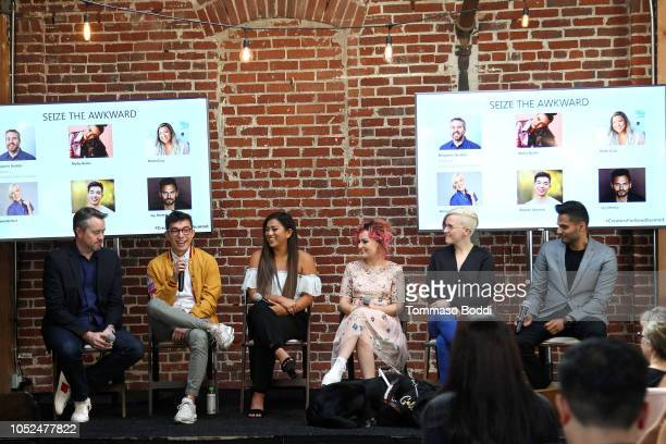Benjamin Grubbs Motoki Maxted Remi Cruz Molly Burke Hannah Hart and Jay Shetty attend the Using Your Voice For Social Change Mental Health And...