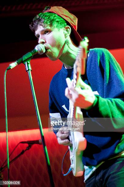 Benjamin Grubin of Hockey performs onstage at the O2 Academy on June 14, 2010 in Newcastle upon Tyne, England.