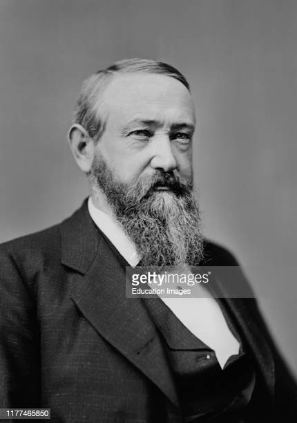 Benjamin Harrison 18331901 23rd President of the United States 188993 Head and Shoulders Portrait Photograph BradyHandy Collection 1870's