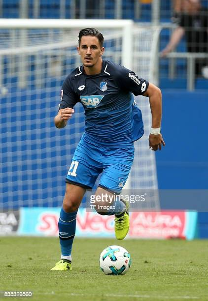 Benjamin Hübner of Hoffenheim controls the ball during the preseason friendly match between TSG 1899 Hoffenheim and FC Bologna on August 5 2017 in...