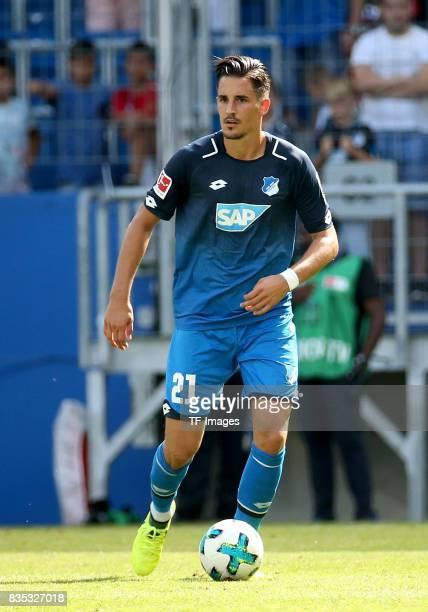 Benjamin Hübner of Hoffenheim controls the ball during the preseason friendly match between TSG 1899 Hoffenheim and FC Bologna on August 5 2017 in...
