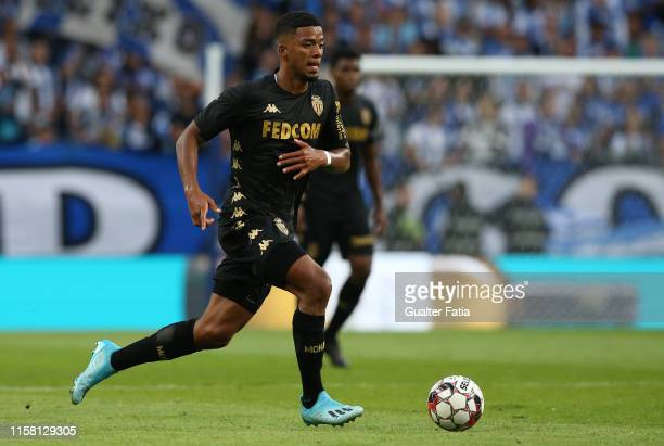 Benjamin Henrichs of AS Monaco in action during the Pre-Season Friendly match between FC Porto and AS Monaco at Estadio do Dragao on July 27, 2019 in...