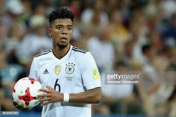 Benjamin Henrichs of Germany looks on during the FIFA Confederations Cup Russia 2017 SemiFinal between Germany and Mexico at Fisht Olympic Stadium on...