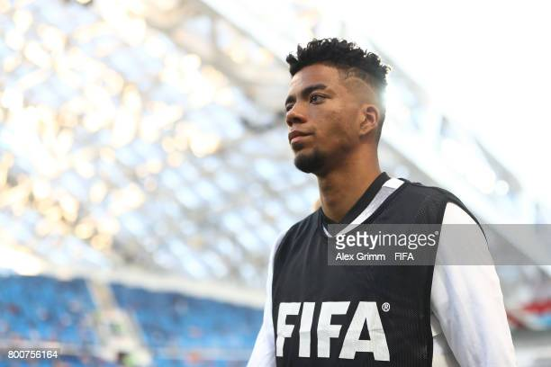 Benjamin Henrichs of Germany makes his way to the bench during the FIFA Confederations Cup Russia 2017 Group B match between Germany and Cameroon at...