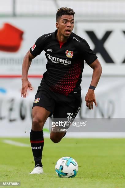 Benjamin Henrichs of Leverkusen controls the ball during the preseason friendly match between Bayer 04 Leverkusen and Antalyaspor on July 27 2017 in...