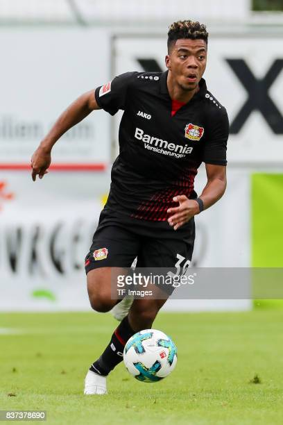 Benjamin Henrichs of Leverkusen controls the ball during the preseason friendly match between Bayer 04 Leverkusen and Antalyaspor on July 27 2017 in...
