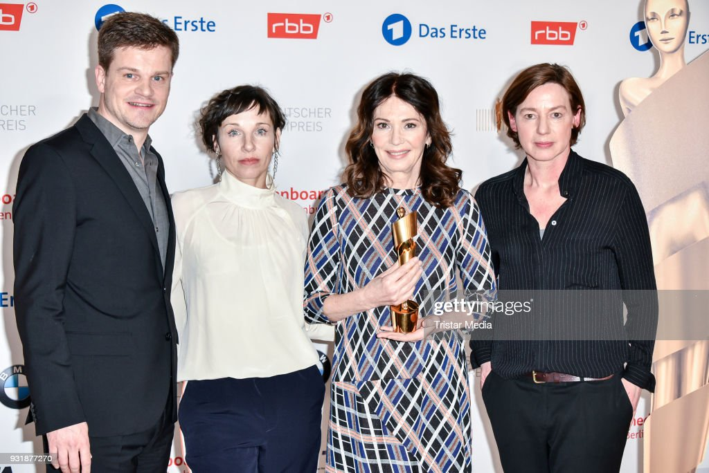 Benjamin Herrmann, Meret Becker, Iris Berben and Anne Leppin during the nominees announcement for the Lola - German film award at on March 14, 2018 in Berlin, Germany. The German film award will take place on April 28, 2017.