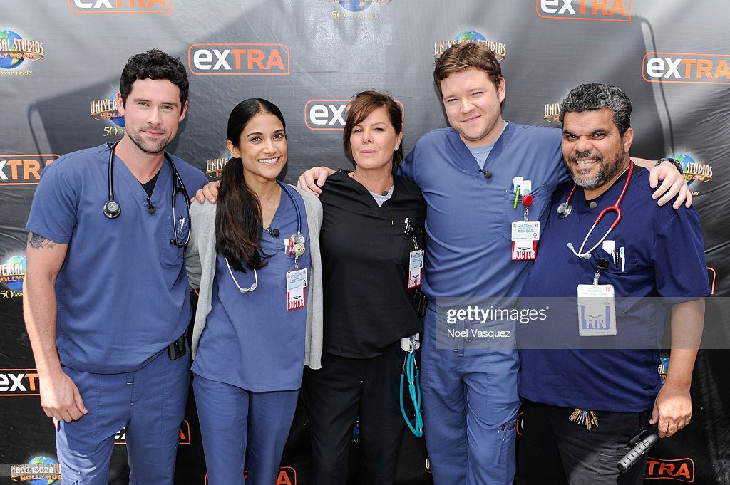 "Cast Of ""Code Black"": Marcia Gay Harden, Luis Guzman, Melanie Chandra, Harry Ford An Ben Hollingsworth On ""Extra"""