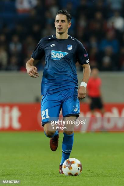 Benjamin Huebner of Hoffenheim controls the ball during the UEFA Europa League Group C match between 1899 Hoffenheim and Istanbul Basaksehir FK at...