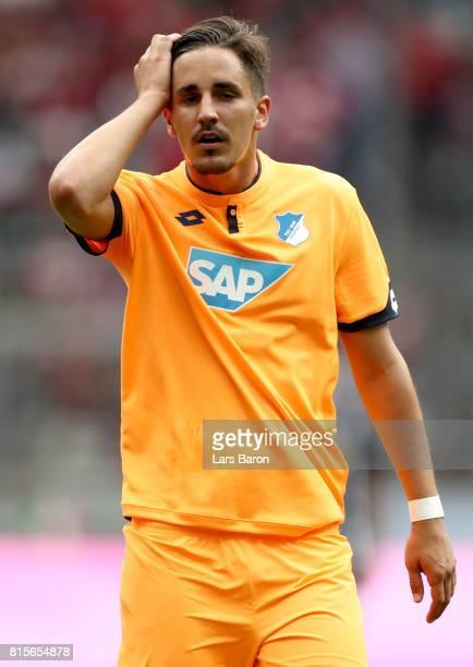 Benjamin Huebner of Hoffenheim runs with the ball during the Telekom Cup 2017 3rd place match between Borussia Moenchengladbach and TSG Hoffenheim at...