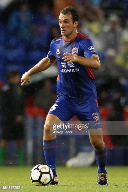 Benjamin Kantarovski of the Jets during the round nine ALeague match between the Newcastle Jets and Melbourne City at McDonald Jones Stadium on...