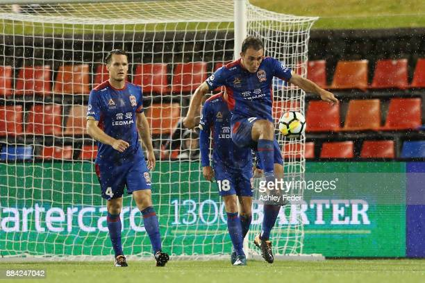Benjamin Kantarovski of the Jets in action during the round nine ALeague match between the Newcastle Jets and Melbourne City at McDonald Jones...