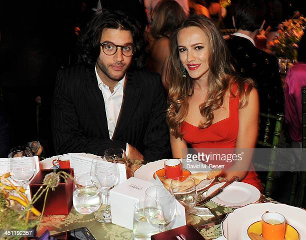 Benjamin Khalili and guest attend the Adventure in Wonderland Ball held by The Reuben Foundation in aid of Great Ormond Street Hospital Children's...