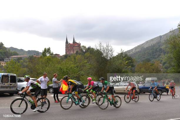 Benjamin King of The United States and Team Dimension Data / Nick Schultz of Australia and Team Caja Rural Seguros RGA / Pierre Rolland of France and...